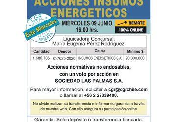 Remate de Acciones, Liquidación Insumos Energéticos
